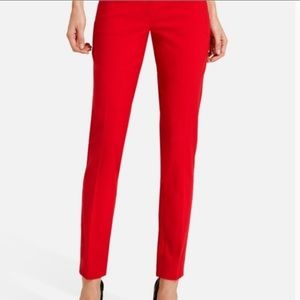 Limited Red Stretch Pencil Pant Ankle Crop Pants